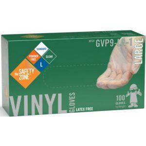 Powder Free Clear Vinyl Gloves - Large
